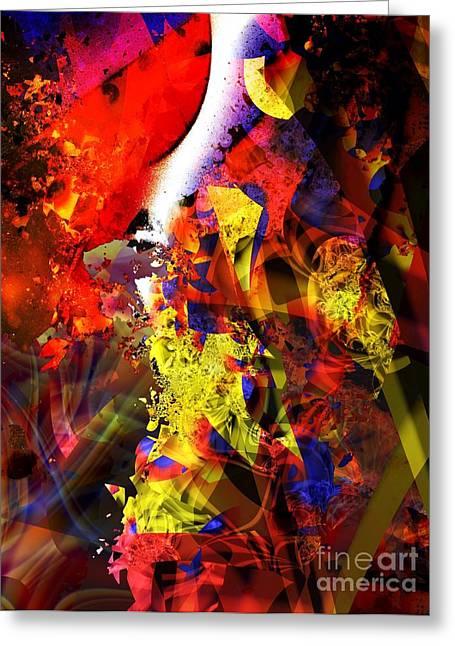Fragmentation Greeting Cards - Fragmentation Threshold Greeting Card by Ron Bissett