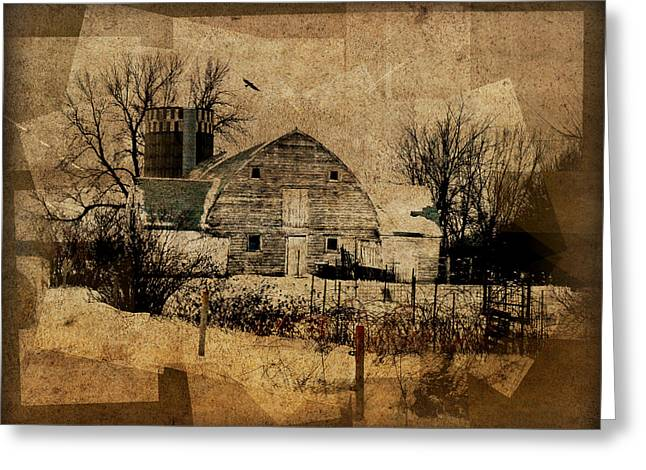 Barn Digital Art Greeting Cards - Fragmented Barn  Greeting Card by Julie Hamilton