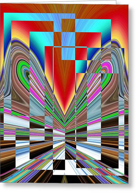 Surreal Geometric Greeting Cards - Frame Of Mind Greeting Card by Tim Allen