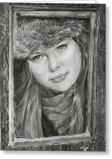 Winter Promise Greeting Cards - Framed - after Maureen Killaby Greeting Card by Mary Wykes
