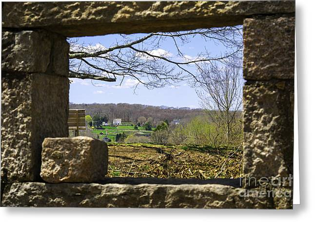 Coogan Greeting Cards - Framed In Stone Greeting Card by Joe Geraci