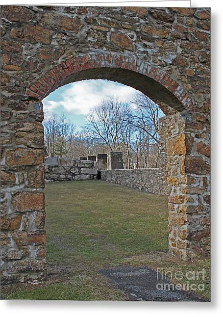Iron Greeting Cards - Framed in Stone Greeting Card by Robert Sander