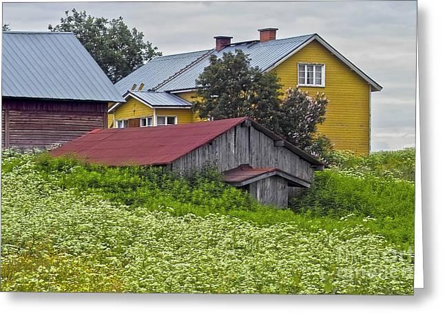 Heiko Koehrerwagner Greeting Cards - Framehouses in Finland Greeting Card by Heiko Koehrer-Wagner