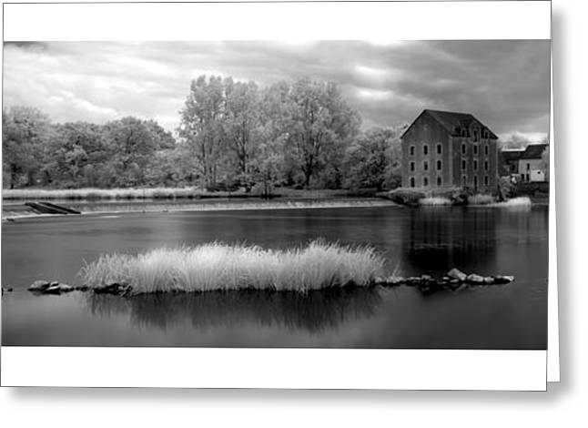 Best Seller Greeting Cards - France a Weir on the Mayenne River   version 1 Greeting Card by Jon Delorme