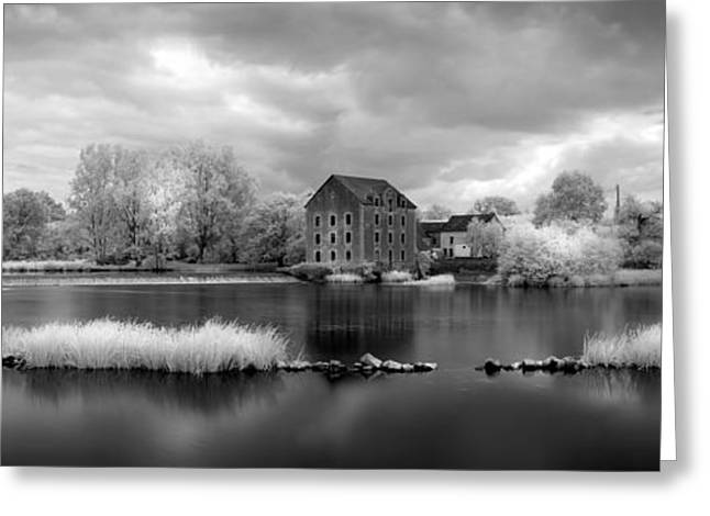 Best Seller Greeting Cards - France a Weir on the Mayenne River   version 2 Greeting Card by Jon Delorme