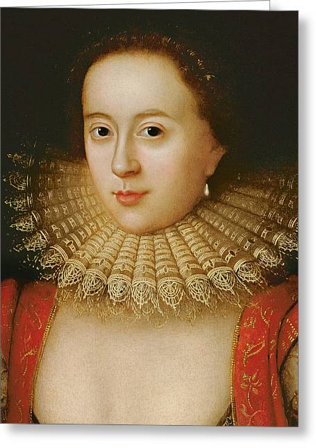 Collar Greeting Cards - Frances Howard Greeting Card by William Larkin