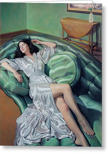 Robe Pastels Greeting Cards - Francesca Greeting Card by Patrick Anthony Pierson