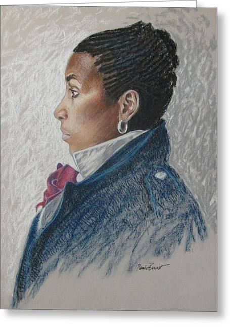 African-americans Pastels Greeting Cards - Francesca Greeting Card by Renee Lucie Benoit