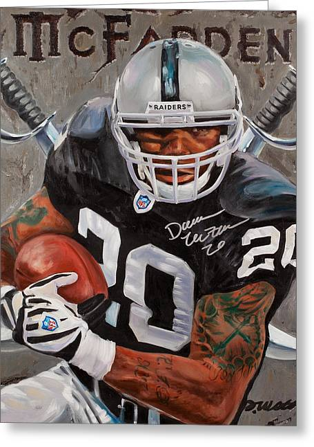 National Football League Paintings Greeting Cards - Franchise Greeting Card by Jim Wetherington