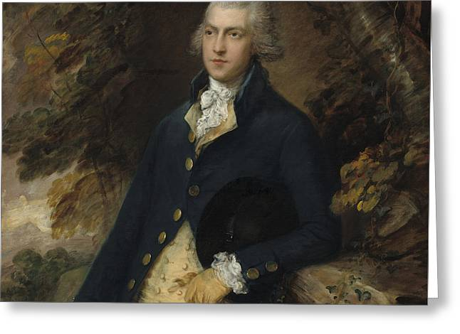 Francis Bassett Lord De Dunstanville And Bassett Greeting Card by Thomas Gainsborough