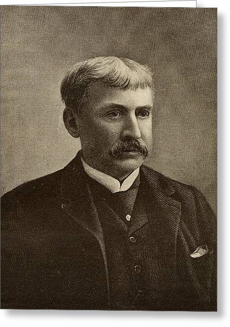 Francis Drawings Greeting Cards - Francis Bret Harte, 1836-1902. American Greeting Card by Vintage Design Pics