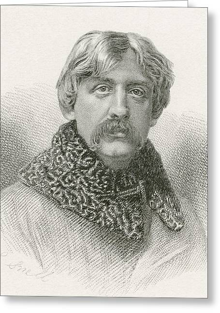 Francis Drawings Greeting Cards - Francis Bret Harte, 1836 -1902 Greeting Card by Vintage Design Pics