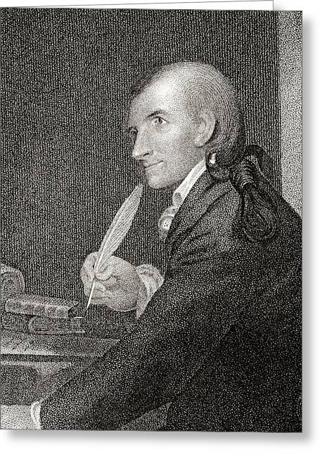 Hopkinson Greeting Cards - Francis Hopkinson 1737 To 1791 American Greeting Card by Vintage Design Pics