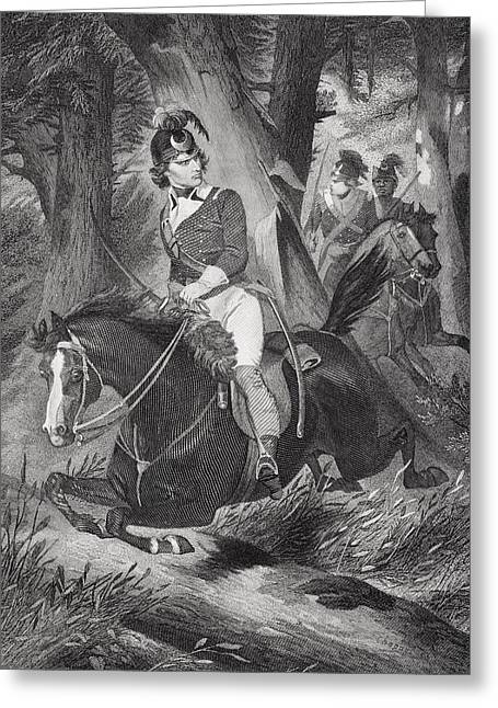 Fame Drawings Greeting Cards - Francis Marion 1732-1795. Officer Greeting Card by Ken Welsh