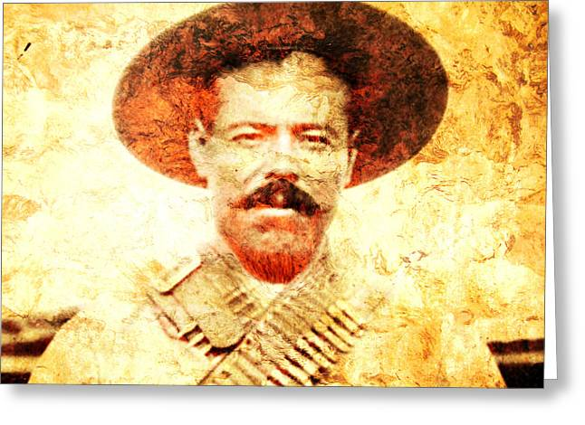 Mexican Revolution Greeting Cards - Francisco Villa Greeting Card by Jose Espinoza