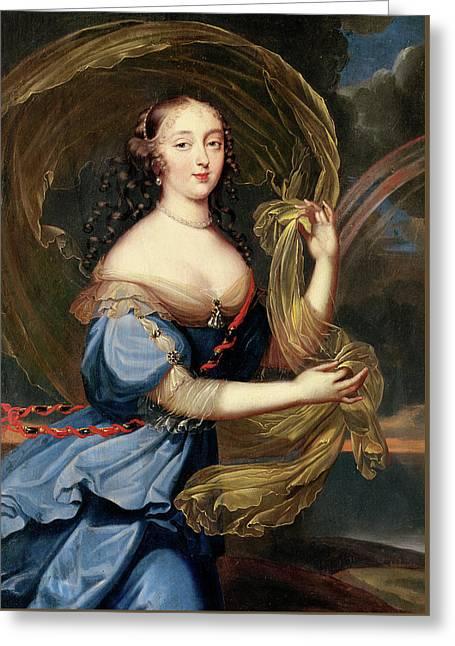 Francoise-athenais De Rochechouart De Mortemart Greeting Card by Louis Ferdinand Elle