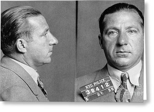 Police Department Greeting Cards - Frank Costello (1891-1973) Greeting Card by Granger