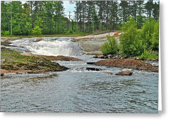 Power Plants Greeting Cards - Frank J Russel falls 2 Greeting Card by Michael Peychich