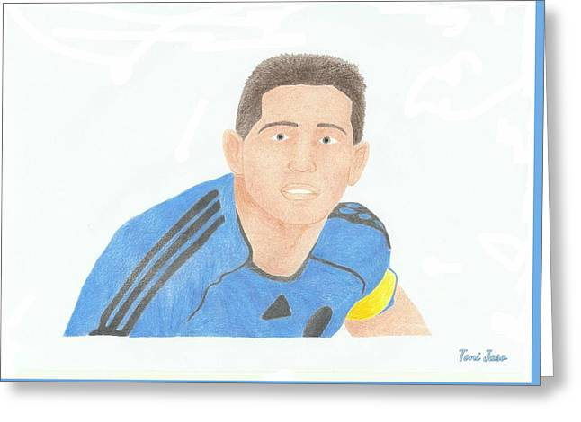 Player Drawings Greeting Cards - Frank Lampard Greeting Card by Toni Jaso