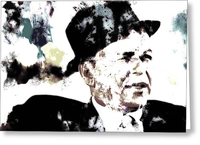 Bobby Kennedy Greeting Cards - Frank Sinatra Greeting Card by Brian Reaves