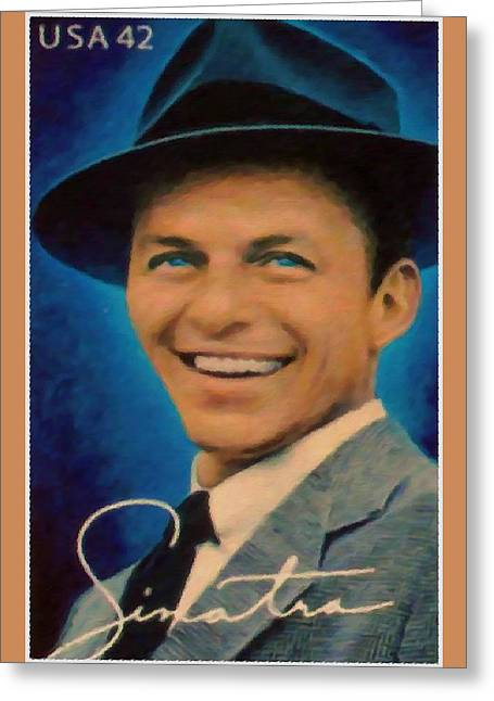 Frank Sinatra Posters Greeting Cards - Frank Sinatra Greeting Card by Lanjee Chee