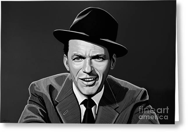 Award Greeting Cards - Frank Sinatra Greeting Card by Meijering Manupix