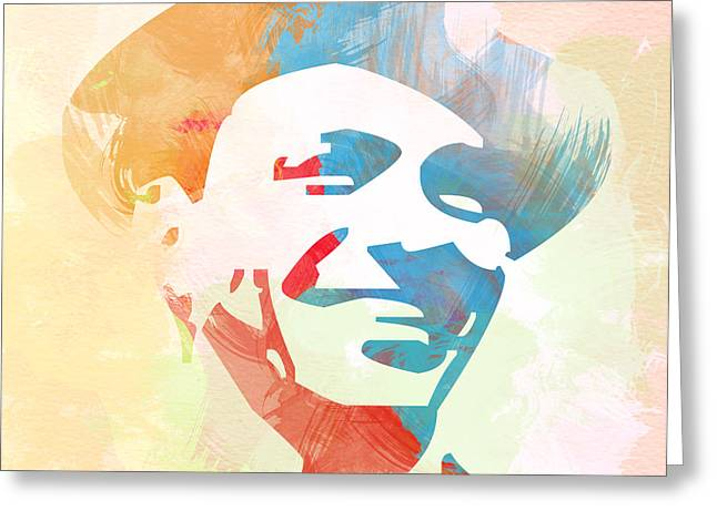 Frank Sinatra Greeting Card by Naxart Studio