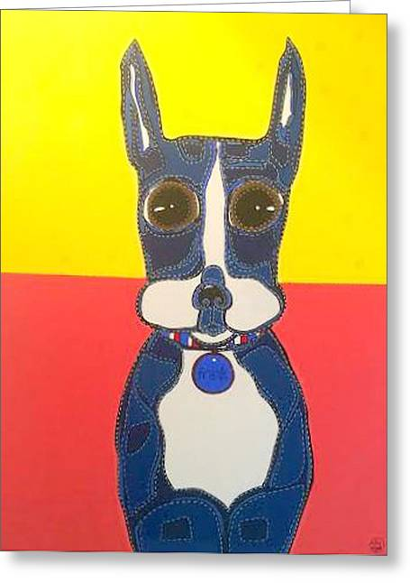 Doggies Greeting Cards - FRANK The French Bulldog Greeting Card by Kim Magee