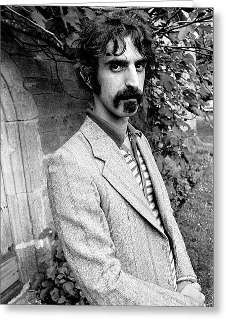 Franks Greeting Cards - Frank Zappa 1970 Greeting Card by Chris Walter
