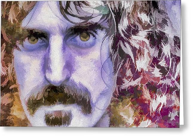 Player Greeting Cards - Frank Zappa Greeting Card by Eleni Mac Synodinos