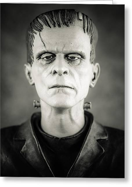 Universal Monsters Greeting Cards - Frankensteins Monster - Boris Karloff II Greeting Card by Marco Oliveira