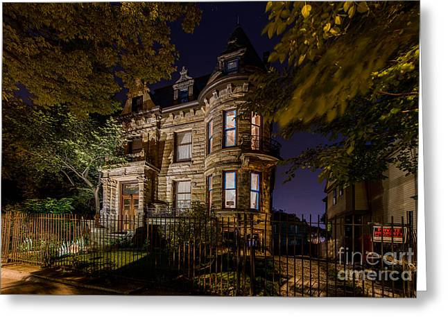Haunted House Photographs Greeting Cards - Franklin Castle  Greeting Card by Frank  Cramer
