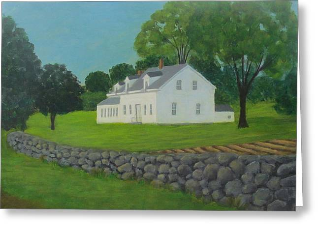Franklin Farm Paintings Greeting Cards - Franklin Farm Greeting Card by Elaine Devonis