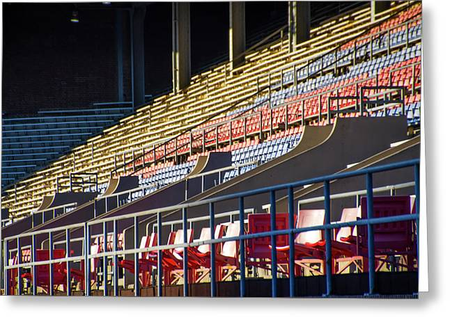 Franklin Field - Empty Stands Greeting Card by Bill Cannon