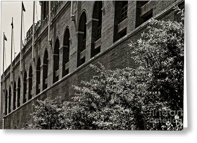 U2 Photographs Greeting Cards - Franklin Field Greeting Card by Tom Gari Gallery-Three-Photography