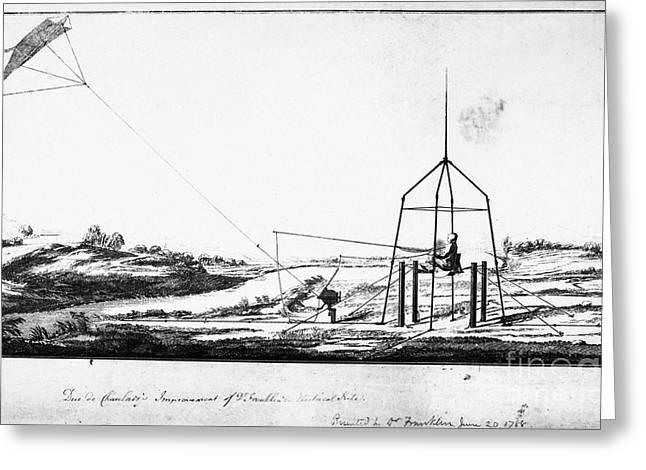 Franklin: Kite, 1788 Greeting Card by Granger