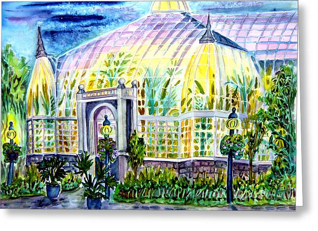 Franklin Greeting Cards - Franklin Park Conservatory Greeting Card by Helen Kern