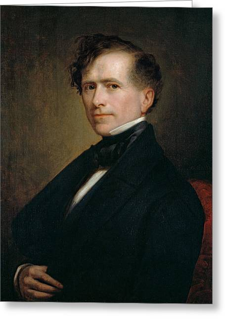 Franklin Pierce Greeting Card by George Peter Alexander Healy