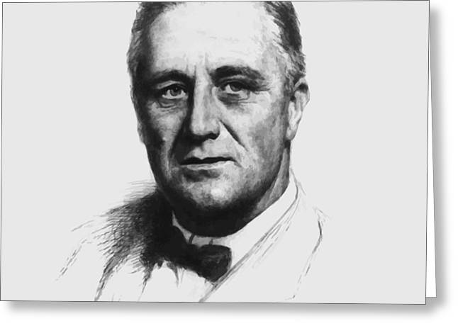 Franklin Roosevelt Greeting Card by War Is Hell Store