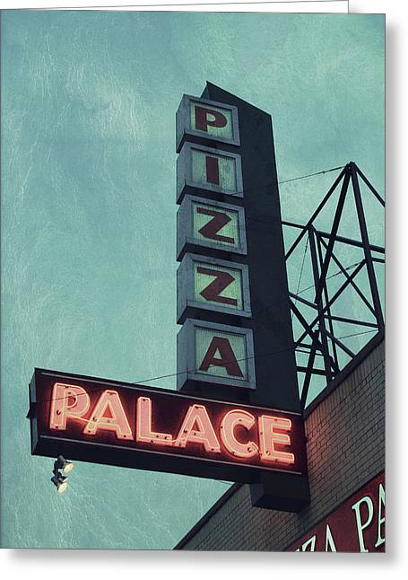 Frank's Pizza Palace Greeting Card by Joel Witmeyer