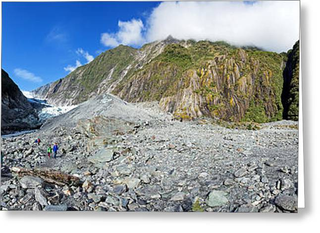 Snow Capped Greeting Cards - Franz Joesph Glacier Greeting Card by Bill  Robinson