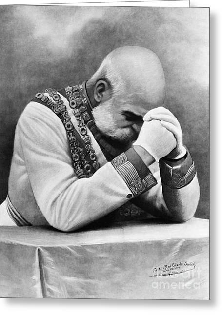Twentieth Century Greeting Cards - Franz Joseph I Greeting Card by Omikron