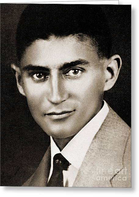 Franz Kafka Greeting Card by Czech School