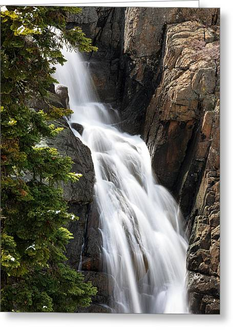 Tahoe National Forest Greeting Cards - Frazier Falls  Greeting Card by Karma Boyer