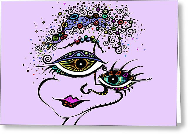 Woman Of Color Greeting Cards - Frazzled Greeting Card by Tanielle Childers