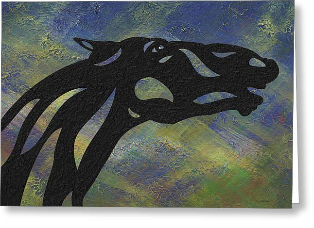 Fred - Abstract Horse Greeting Card by Manuel Sueess