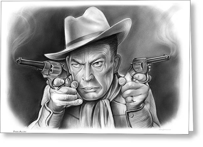 Fred Allen Greeting Card by Greg Joens