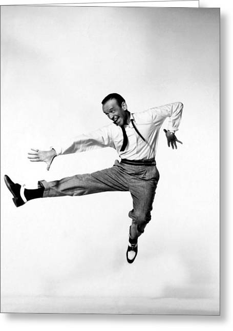 1950s Tv Greeting Cards - Fred Astaire In Daddy Long Legs 1955 Greeting Card by Mountain Dreams