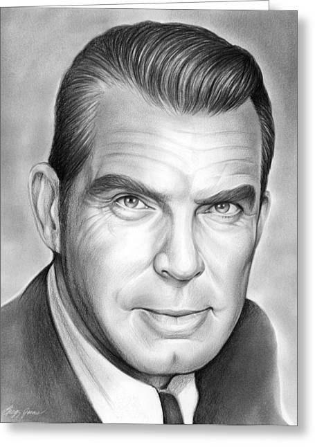 Fred Macmurray Greeting Card by Greg Joens