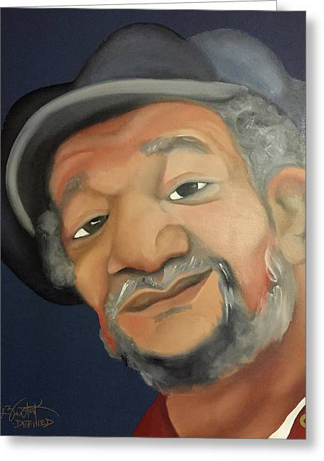 Fred Sanford Greeting Card by Chelsea VanHook